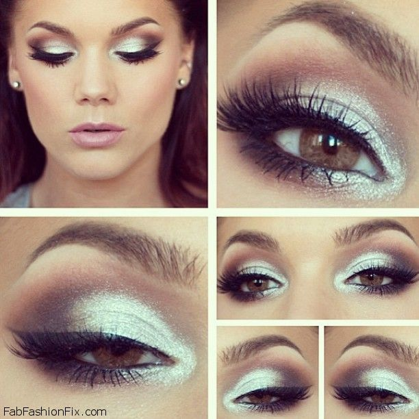 Silver Smokey Eyes Makeup