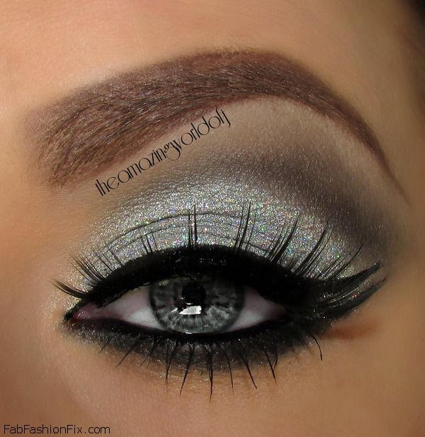 How To Do Silver Smokey Eye Makeup Tutorial Fab Fashion Fix