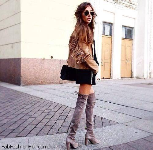 Style Watch 40 Ways To Wear And Style Over The Knee Boots