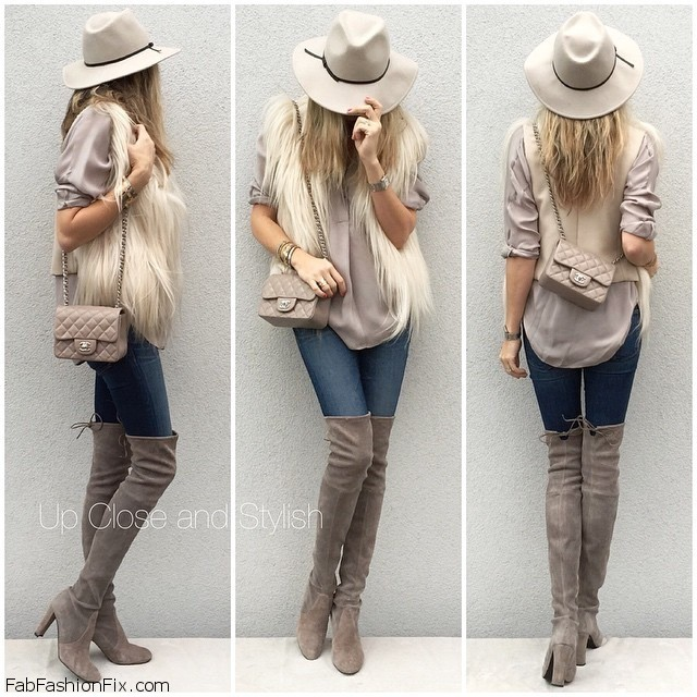 Over The Knee Boots Skinny Legs - Boot Hto