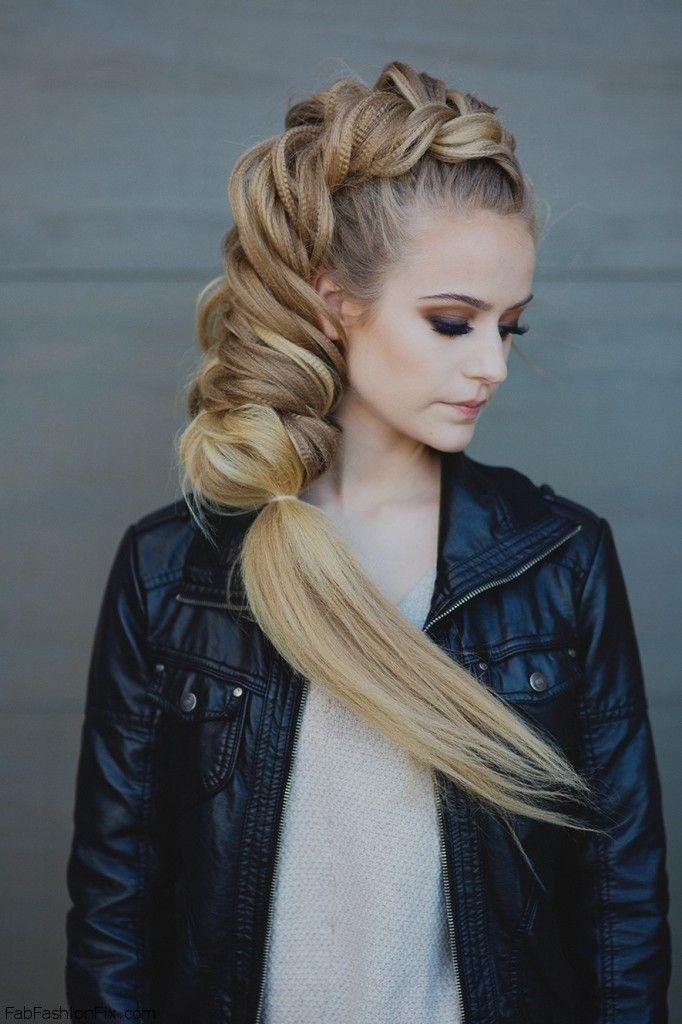 Excellent Pulled Apart Dutch Fishtail Braid Hairstyle Tutorial Fab Fashion Fix Hairstyles For Women Draintrainus