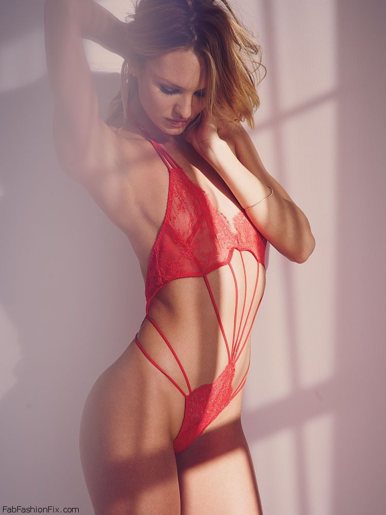 New victoria secret red lingerie
