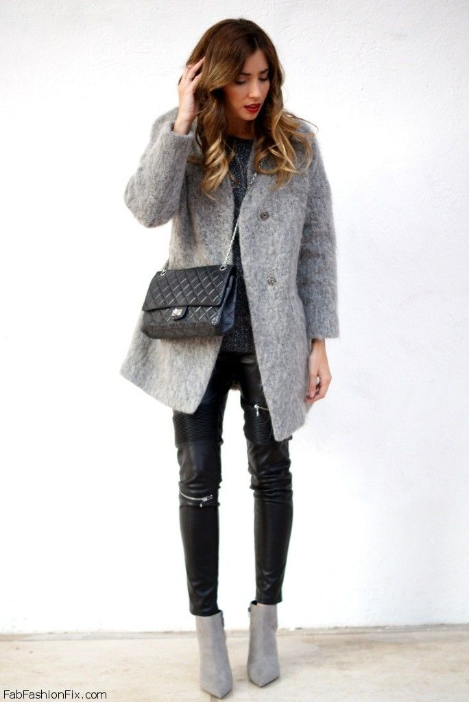 Style Watch How Fashion Bloggers Wear Leather Pants This Winter Fab Fashion Fix