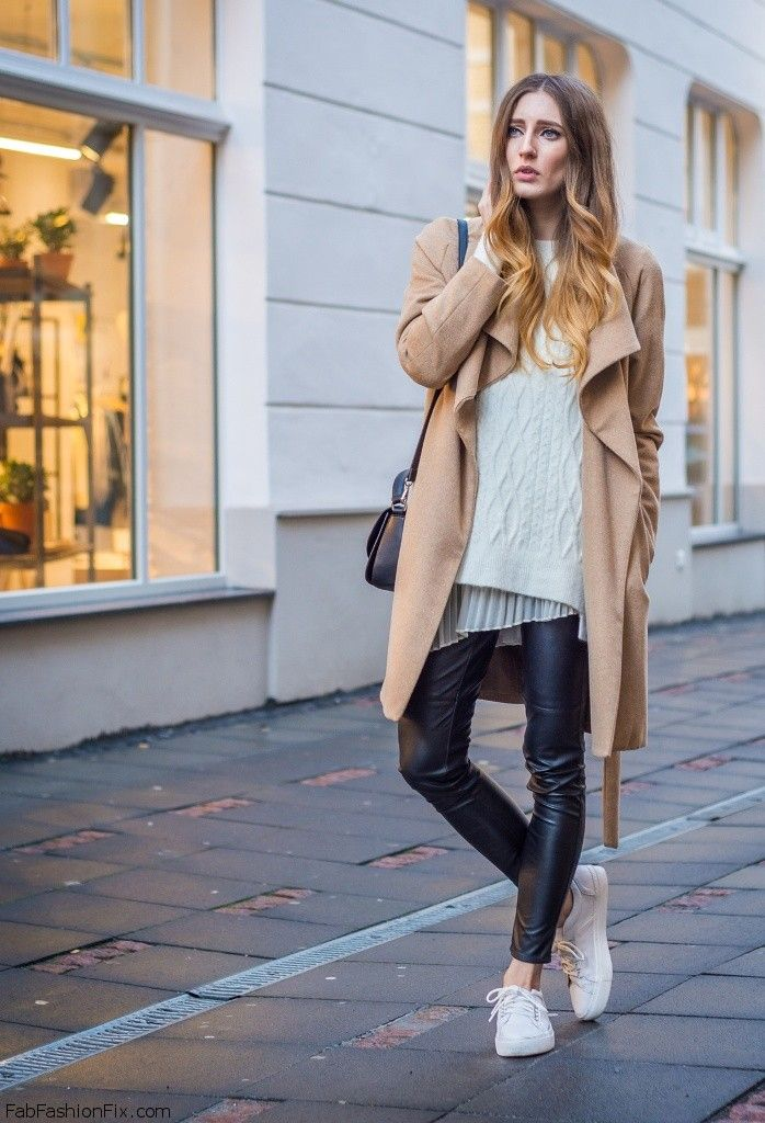 Style Watch How Fashion Bloggers Wear Leather Pants This