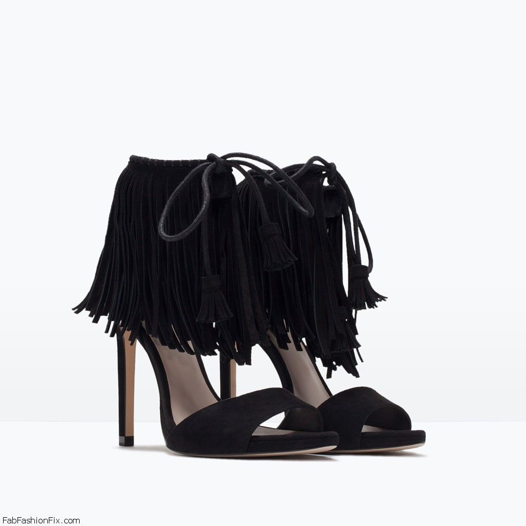 Black Lace Up Heels Zara