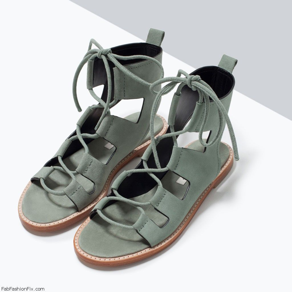 52839ce6f7135e Zara Wrap around leather sandal (89.90 USD). High-heeled sandals in whisky  colored leather. Wide wrap around straps. Stiletto. Lace-up closure on  instep.