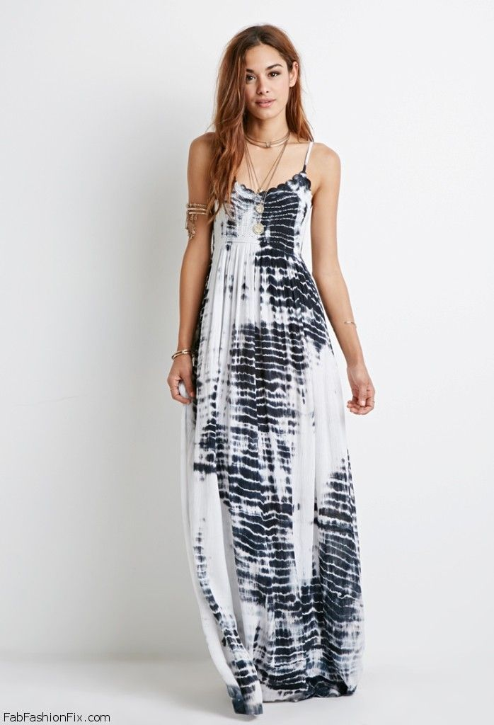 Forever 21 maxi tropical dresses