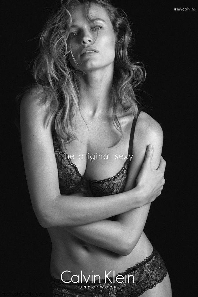 Edita Vilkeviciute in Calvin Klein Underwear ad.