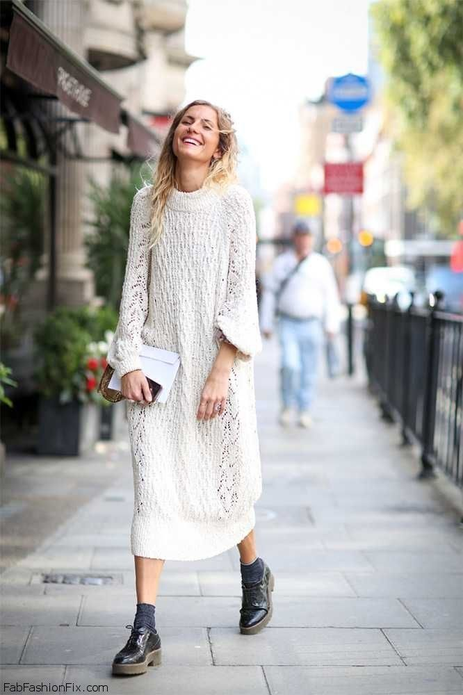 boho-knit-dress-and-oxford-shoes