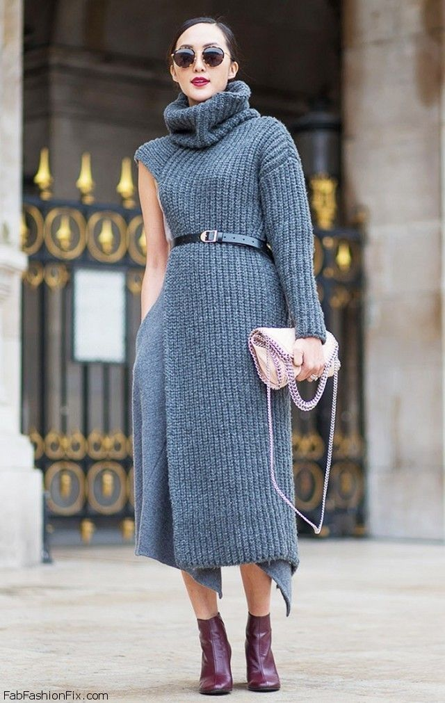 Ways To Style A Sweater Dress 42