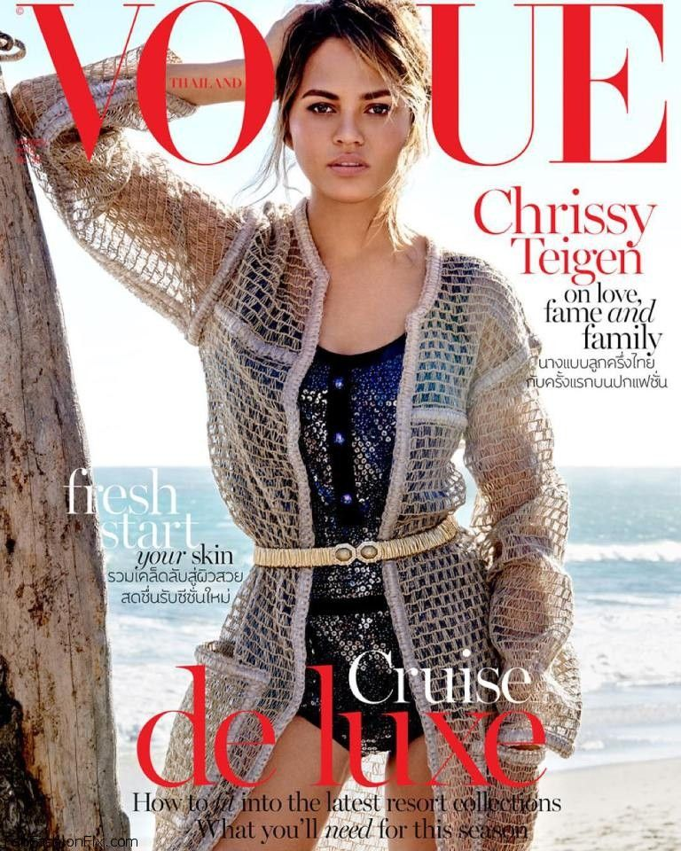 Chrissy Teigen stuns on the cover of Vogue Thailand January 2016