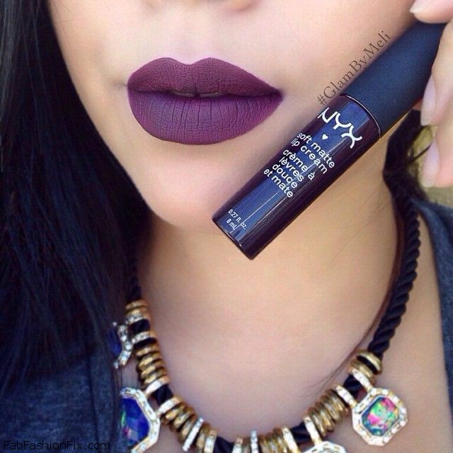 "NYX Soft Matte Lip Cream in ""Transylvania"". Photo: Instagram/Glam yb Meli"