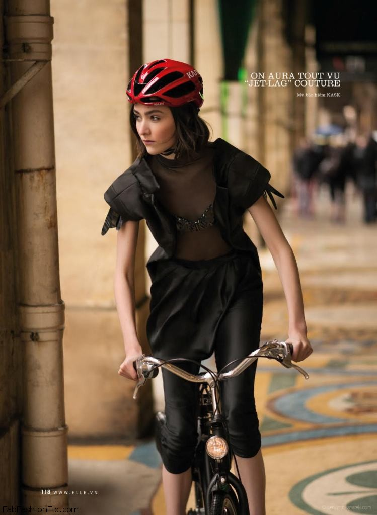 Mar Gonzalez in Tour de France by Benjamin Kanarek for ELLE