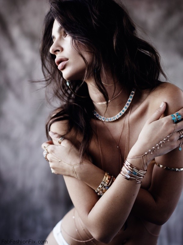 Emily Ratajkowski strips down for Jacquie Aiche spring 2016 Jewelry campaign