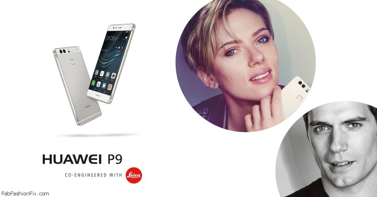 Henry Cavill and Scarlett Johansson star in Huawei P9 Smartphone Campaign