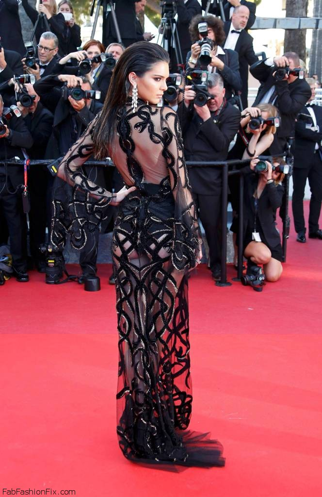 "Model Kendall Jenner poses on the red carpet as she arrives for the screening of the film ""Mal de pierres"" (From the Land of the Moon) in competition at the 69th Cannes Film Festival in Cannes, France, May 15, 2016. REUTERS/Yves Herman"
