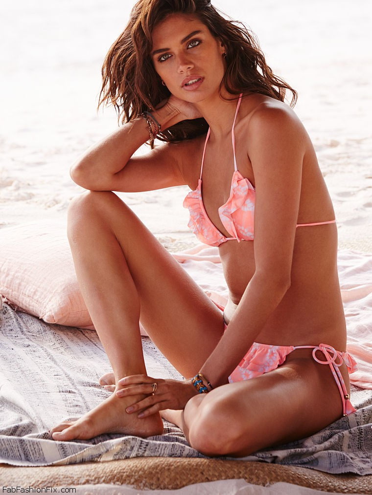 Bronzed goddess Sara Sampaio wows in the new Victoria's ...