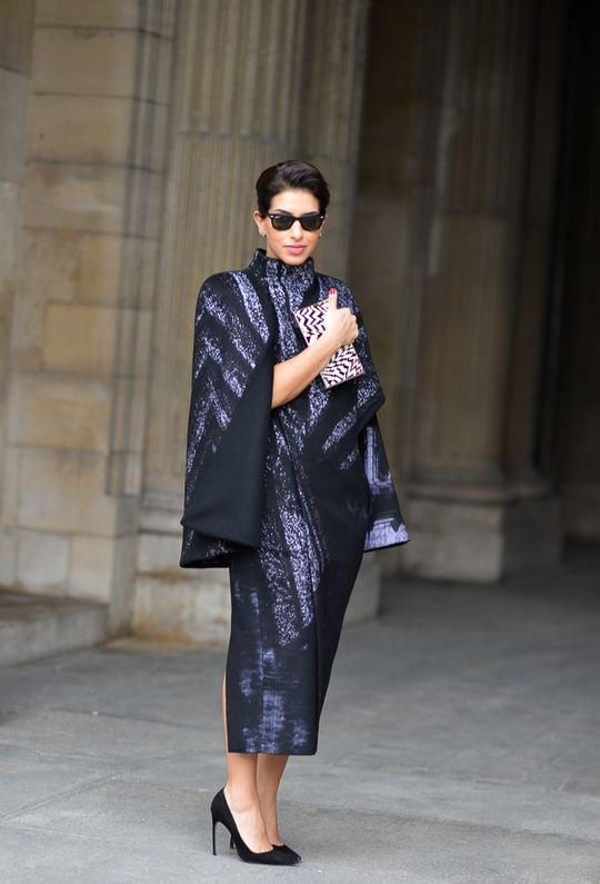 Princess Deena Abdulaziz at Louis Vuitton fashion show in Paris.