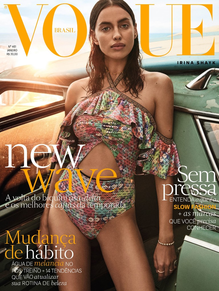 Irina Shayk stuns on the cover of Vogue Brazil January 2017