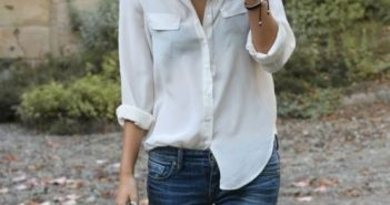 Best spring style outfit ideas with white shirt
