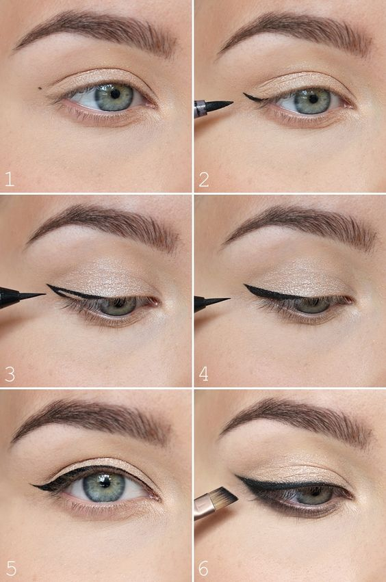 The most easiest way to do winged eyeliner.