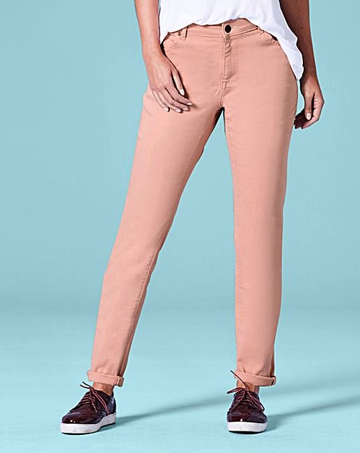 sadie dusky pink relaxed slim leg jeans regular length
