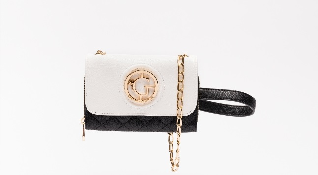 Kelsey - Vegan Leather Crossbody Clutch BW