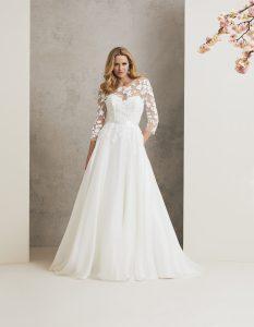 Burgundy-Caroline Castigliano-wedding-dress