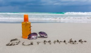 beach sunscreen summer photo free