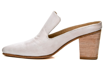 Esquivel White Aurora Mule Pump