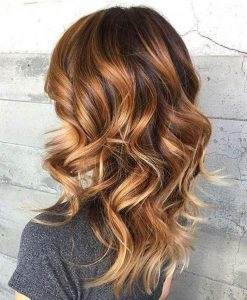 Caramel Highlights in Light Brown