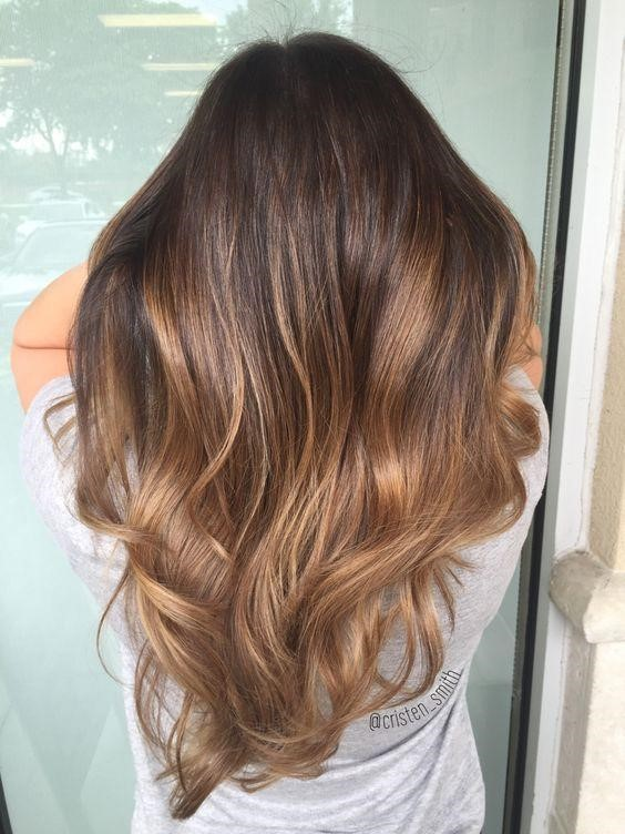 Warm Brown Toffee Hair
