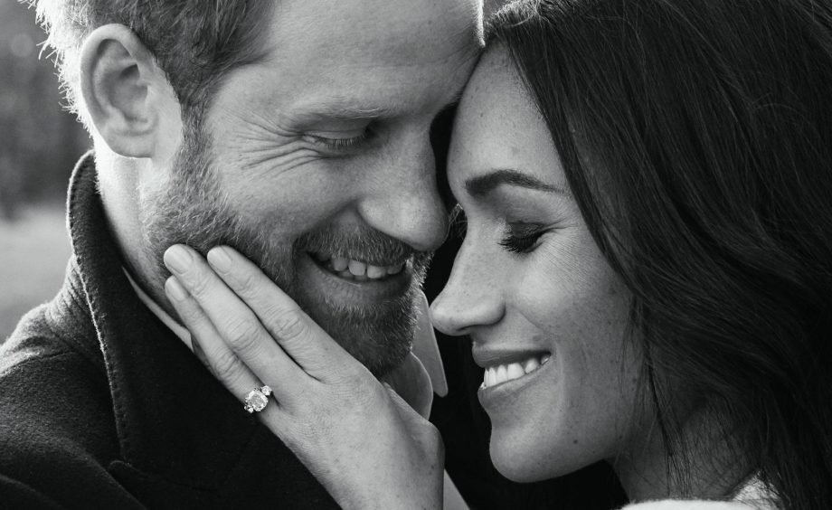 Official photo taken by fashion photographer Alexi Lubomirski to mark the engagement of Prince Harry and Meghan Markle.