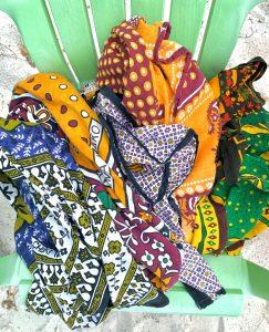 Kanga on chair - African heritage